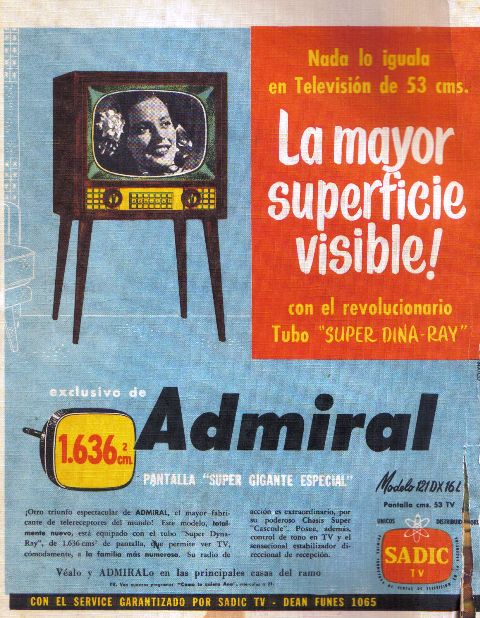 Ad ADMIRAL 1953